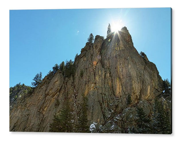Boulder Canyon Narrows Pinnacle Acrylic Print