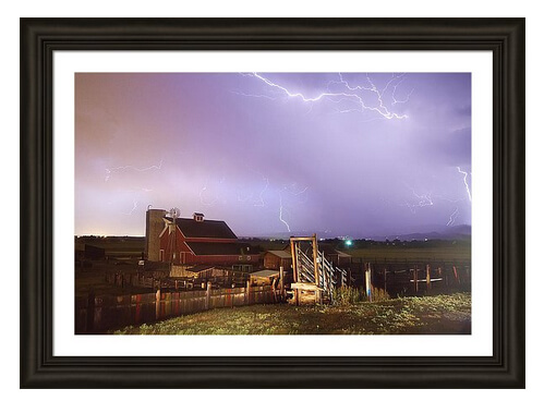 Storm On The Farm Framed Print