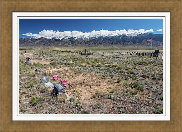 Old West Rocky Mountain Cemetery View Framed Print
