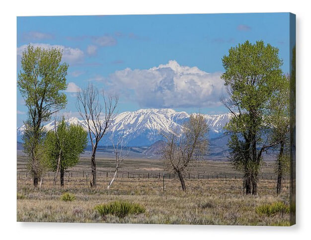 Sangre de Cristo Rocky Mountains nature landscape Canvas Print