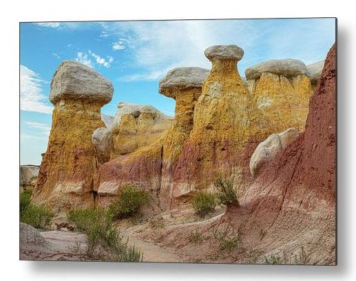 Colorado Paint Mines Formations Metal Print